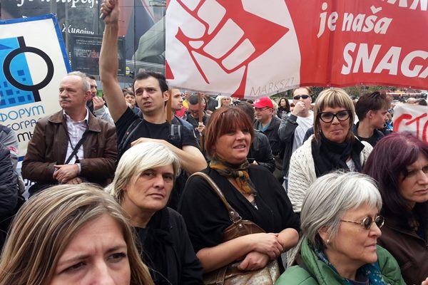 Протест синдиката јавних служби